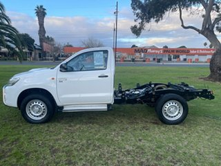 2015 Toyota Hilux KUN26R MY14 SR White 5 Speed Automatic Cab Chassis