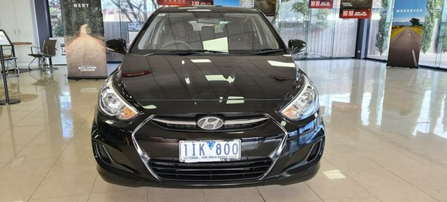 Used Hyundai Accent RB4 MY16 Active Wonthaggi, 2016 Hyundai Accent RB4 MY16 Active Black 6 Speed Constant Variable Hatchback