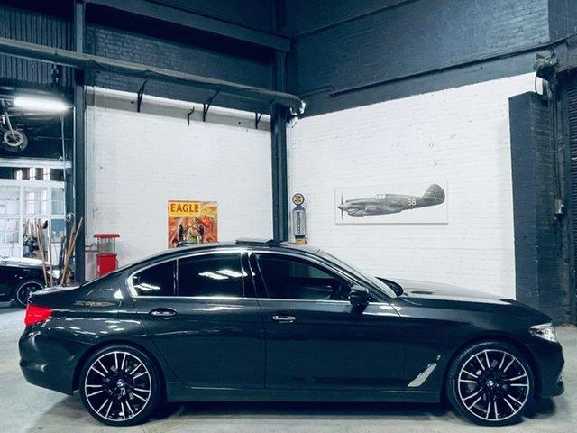 Used BMW 5 Series G30 530e Steptronic Luxury Line Port Melbourne, 2017 BMW 5 Series G30 530e Steptronic Luxury Line Black 8 Speed Sports Automatic Sedan Hybrid