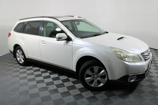 2010 Subaru Outback B5A MY11 2.0D AWD Premium White 6 Speed Manual Wagon.