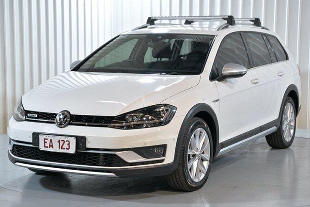Used Volkswagen Golf 7.5 MY17 Alltrack DSG 4MOTION 132TSI Premium Hendra, 2017 Volkswagen Golf 7.5 MY17 Alltrack DSG 4MOTION 132TSI Premium White 6 Speed