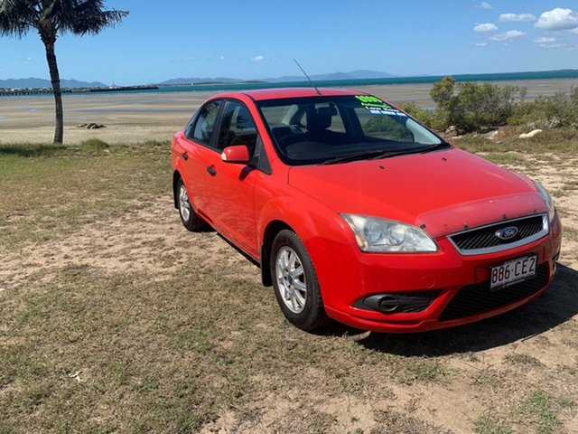 Used Ford Focus Bowen, 2008 Ford Focus Red Automatic Sedan