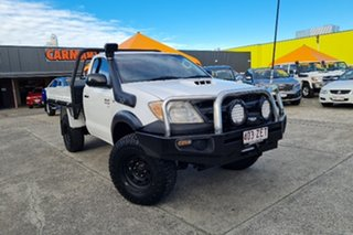 2006 Toyota Hilux KUN26R MY07 SR White 4 Speed Automatic Cab Chassis.