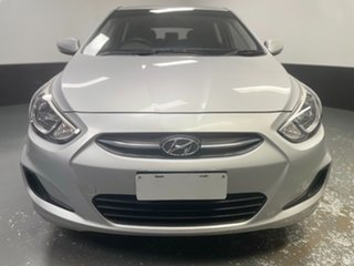 2016 Hyundai Accent RB3 MY16 Active Ironman Silver 6 Speed Constant Variable Hatchback.