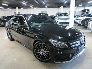 2017 Mercedes-Benz C-Class W205 807+057MY C200 9G-Tronic Black 9 Speed Sports Automatic Sedan.