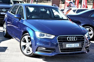2013 Audi A3 8P MY13 Ambition Sportback S Tronic Blue 7 Speed Sports Automatic Dual Clutch Hatchback.