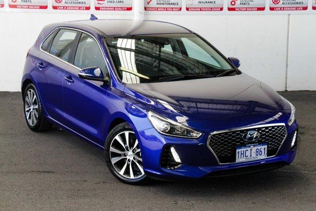 Pre-Owned Hyundai i30 PD2 MY20 Elite Myaree, 2020 Hyundai i30 PD2 MY20 Elite Blue 6 Speed Automatic Hatchback