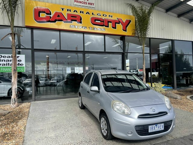 Used Nissan Micra K13 ST Traralgon, 2011 Nissan Micra K13 ST Silver 5 Speed Manual Hatchback
