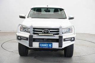 2017 Toyota Hilux GUN126R SR5 Double Cab White 6 Speed Manual Utility.
