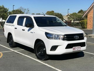 2016 Toyota Hilux GUN122R Workmate Double Cab 4x2 White 5 Speed Manual Utility.