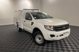 2014 Ford Ranger PX XL White 6 speed Automatic Cab Chassis.
