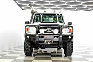 2016 Toyota Landcruiser LC70 VDJ79R MY17 GXL (4x4) White 5 Speed Manual Cab Chassis