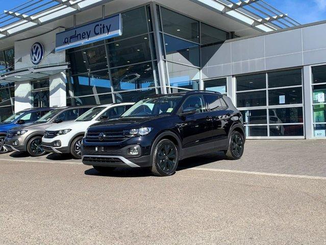 Demo Volkswagen T-Cross C1 MY21 85TSI DSG FWD CityLife Botany, 2021 Volkswagen T-Cross C1 MY21 85TSI DSG FWD CityLife Black 7 Speed Sports Automatic Dual Clutch