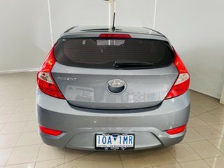 2017 Hyundai Accent RB4 MY17 Active Silver, Chrome 6 Speed Constant Variable Hatchback