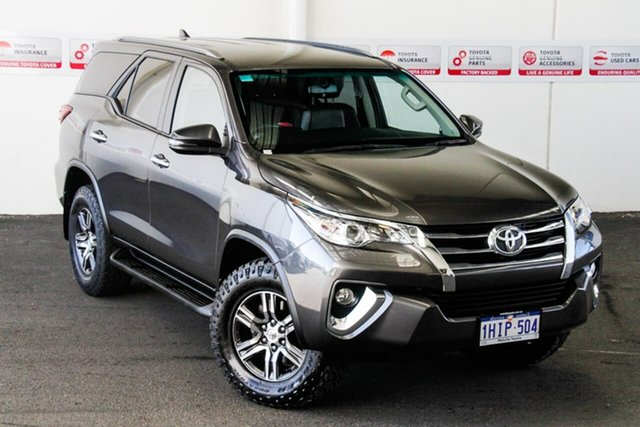Pre-Owned Toyota Fortuner GUN156R MY18 GXL Myaree, 2017 Toyota Fortuner GUN156R MY18 GXL Graphite 6 Speed Automatic Wagon
