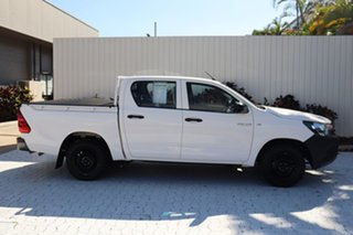 2018 Toyota Hilux TGN121R Workmate Double Cab 4x2 White 6 Speed Sports Automatic Utility.