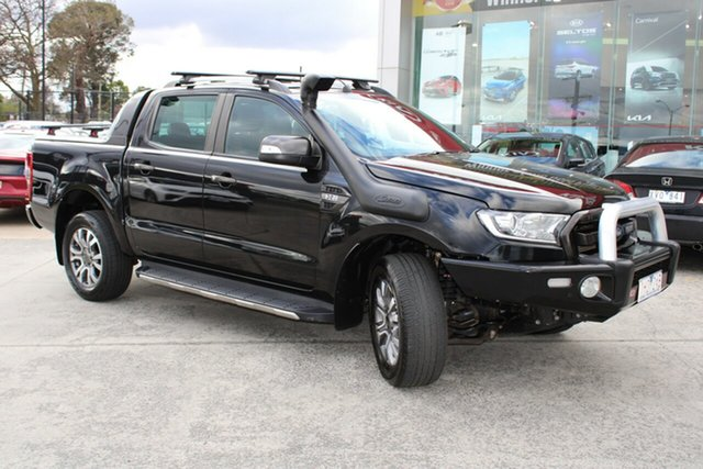 Used Ford Ranger PX MkII Wildtrak Double Cab Ferntree Gully, 2016 Ford Ranger PX MkII Wildtrak Double Cab Black 6 Speed Sports Automatic Utility
