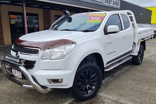 Used Holden Colorado RG MY14 LX Space Cab Morayfield, 2014 Holden Colorado RG MY14 LX Space Cab White 6 Speed Manual Cab Chassis