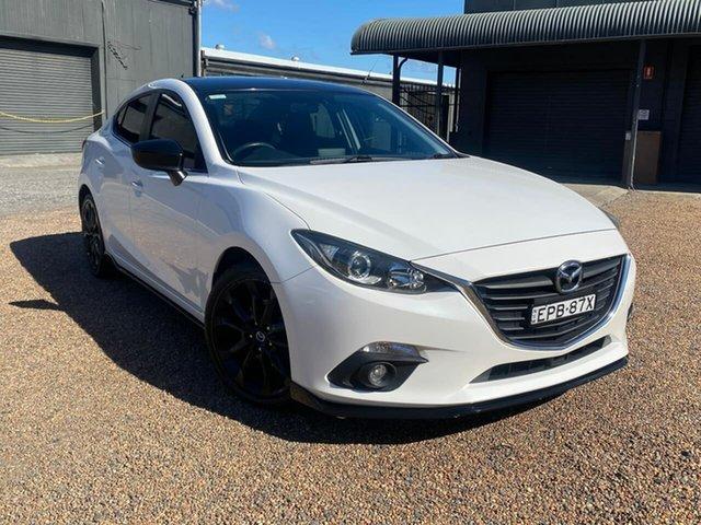 Used Mazda 3 BM5238 SP25 SKYACTIV-Drive Tuggerah, 2015 Mazda 3 BM5238 SP25 SKYACTIV-Drive White 6 Speed Sports Automatic Sedan