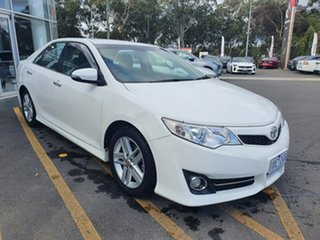 2013 Toyota Camry ASV50R Atara R White 6 Speed Sports Automatic Sedan.