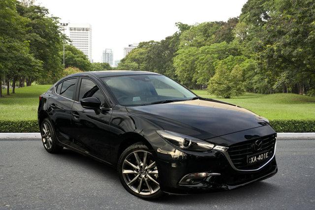 Used Mazda 3 BN5238 SP25 SKYACTIV-Drive Astina Paradise, 2018 Mazda 3 BN5238 SP25 SKYACTIV-Drive Astina Black 6 Speed Sports Automatic Sedan