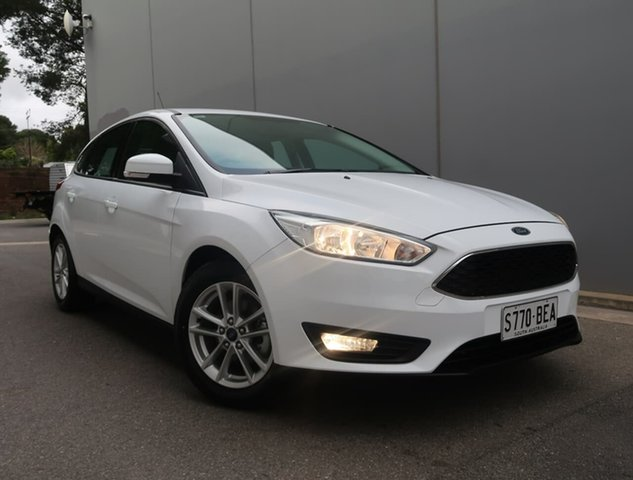 Used Ford Focus LZ Trend Reynella, 2016 Ford Focus LZ Trend White 6 Speed Manual Hatchback