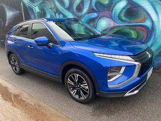 2021 Mitsubishi Eclipse Cross YB MY21 LS 2WD Lightning Blue 8 Speed Constant Variable Wagon.