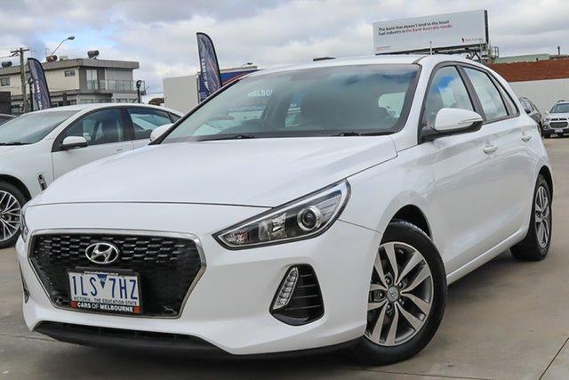 Used Hyundai i30 PD MY18 Active Coburg North, 2017 Hyundai i30 PD MY18 Active White 6 Speed Sports Automatic Hatchback
