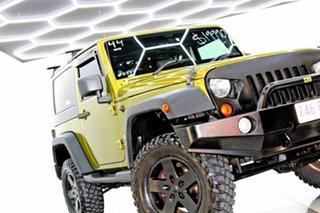 2008 Jeep Wrangler JK Sport (4x4) Green 6 Speed Manual Softtop.