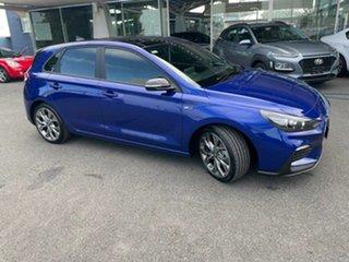 2020 Hyundai i30 PD.V4 MY21 N Line D-CT Premium Blue 7 Speed Sports Automatic Dual Clutch Hatchback.