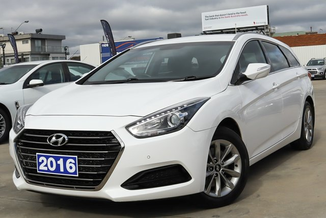 Used Hyundai i40 VF4 Series II Active Tourer D-CT Coburg North, 2016 Hyundai i40 VF4 Series II Active Tourer D-CT White 7 Speed Sports Automatic Dual Clutch Wagon