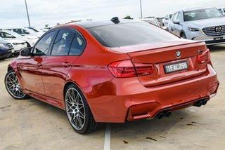 2018 BMW M3 F80 LCI Competition M-DCT Orange 7 Speed Sports Automatic Dual Clutch Sedan.
