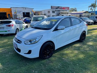 2016 Hyundai Accent RB4 MY16 Active White 6 Speed Constant Variable Sedan.