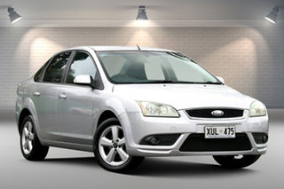 2007 Ford Focus LS LX Silver 4 Speed Automatic Sedan.