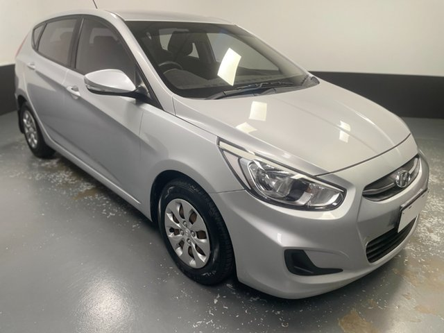 Used Hyundai Accent RB3 MY16 Active Cardiff, 2016 Hyundai Accent RB3 MY16 Active Ironman Silver 6 Speed Constant Variable Hatchback
