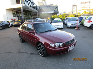 2000 Toyota Corolla AE112R Ascent Red 4 Speed Automatic Sedan.