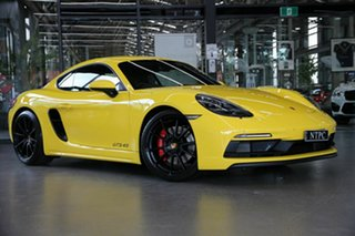 2020 Porsche 718 982 MY21 Cayman GTS 4.0 Yellow 6 Speed Manual Coupe.
