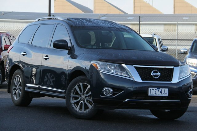 Used Nissan Pathfinder R52 MY14 ST-L X-tronic 2WD Essendon Fields, 2014 Nissan Pathfinder R52 MY14 ST-L X-tronic 2WD Blue 1 Speed Constant Variable Wagon