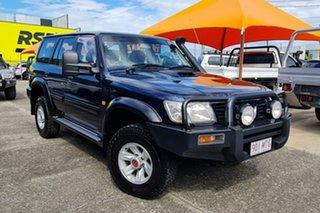 2004 Nissan Patrol GU IV MY05 ST Blue 5 Speed Manual Wagon.