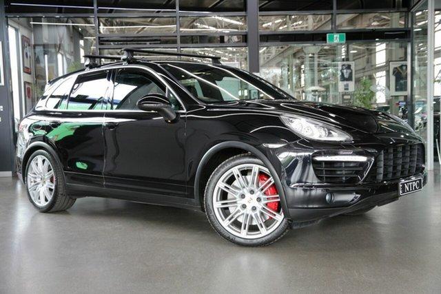 Used Porsche Cayenne 92A MY13 Turbo Tiptronic North Melbourne, 2012 Porsche Cayenne 92A MY13 Turbo Tiptronic Black 8 Speed Sports Automatic Wagon