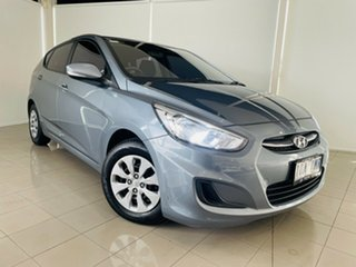 2017 Hyundai Accent RB4 MY17 Active Silver, Chrome 6 Speed Constant Variable Hatchback.