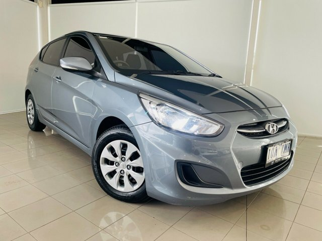 Used Hyundai Accent RB4 MY17 Active Deer Park, 2017 Hyundai Accent RB4 MY17 Active Silver, Chrome 6 Speed Constant Variable Hatchback