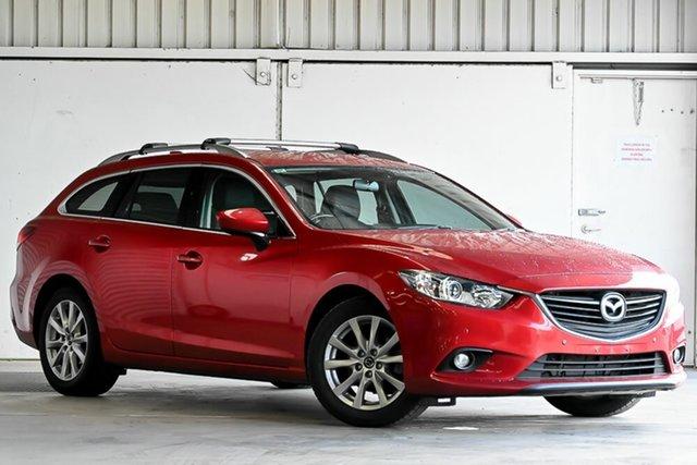 Used Mazda 6 GJ1031 Touring SKYACTIV-Drive Laverton North, 2013 Mazda 6 GJ1031 Touring SKYACTIV-Drive Red 6 Speed Sports Automatic Wagon