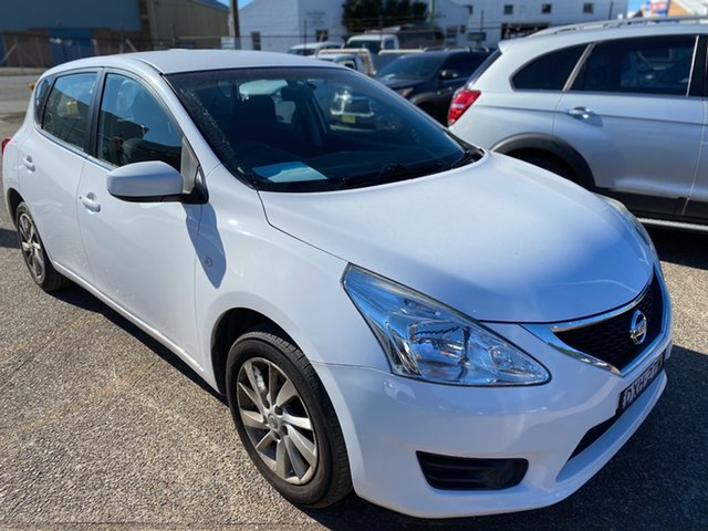 Used Nissan Pulsar C12 Series 2 ST Wickham, 2015 Nissan Pulsar C12 Series 2 ST White 1 Speed Constant Variable Hatchback