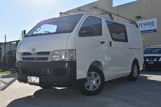 2006 Toyota HiAce TRH201R MY07 LWB White 5 Speed Manual Van.