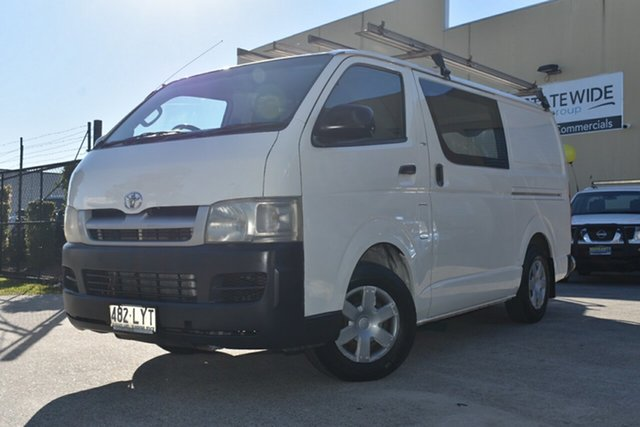 Used Toyota HiAce TRH201R MY07 LWB Capalaba, 2006 Toyota HiAce TRH201R MY07 LWB White 5 Speed Manual Van