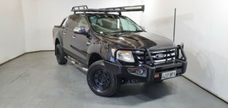 2014 Ford Ranger PX XLT Double Cab Black 6 Speed Manual Utility.