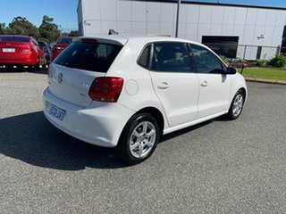 2012 Volkswagen Polo 6R MY12 77 TSI Comfortline White 7 Speed Auto Direct Shift Hatchback