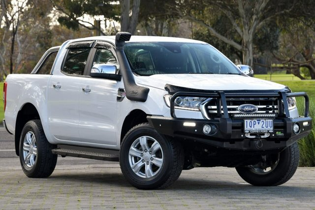 Used Ford Ranger PX MkIII 2019.00MY XLT Dandenong, 2019 Ford Ranger PX MkIII 2019.00MY XLT White 10 Speed Sports Automatic Super Cab Pick Up