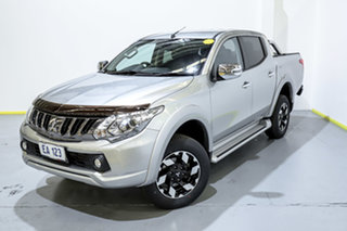 2017 Mitsubishi Triton MQ MY17 Exceed Double Cab Silver 5 Speed Sports Automatic Utility.